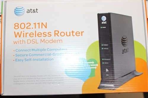AT&Ts 802.11N Wireless Router with DSL Modem Package