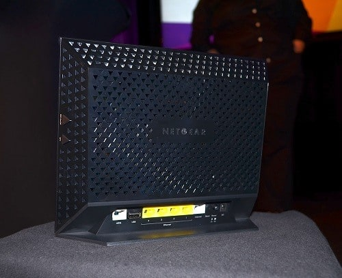 Netgear Combo Modem Router on a Display