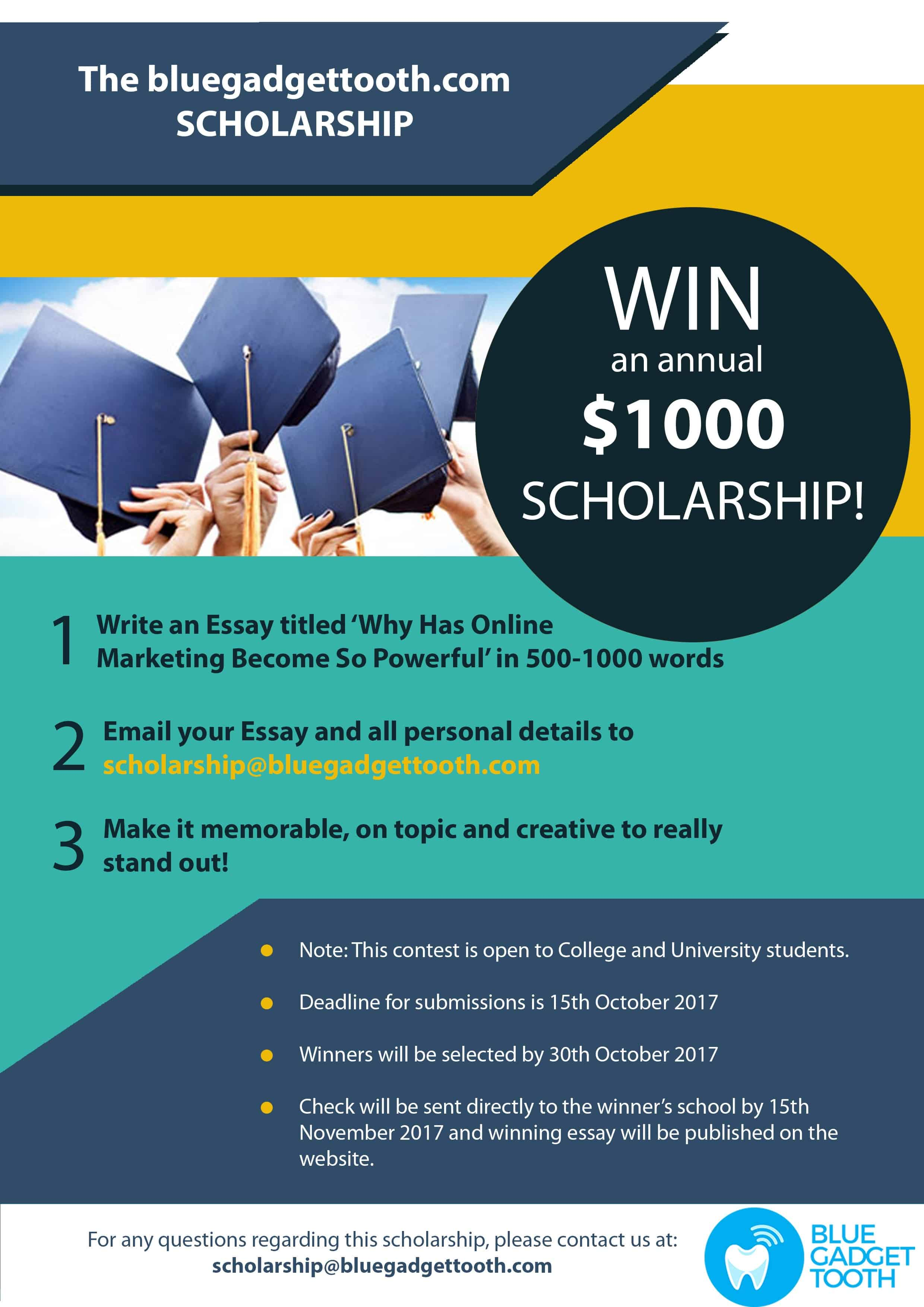 BlueGadgetTooth Scholarship Poster