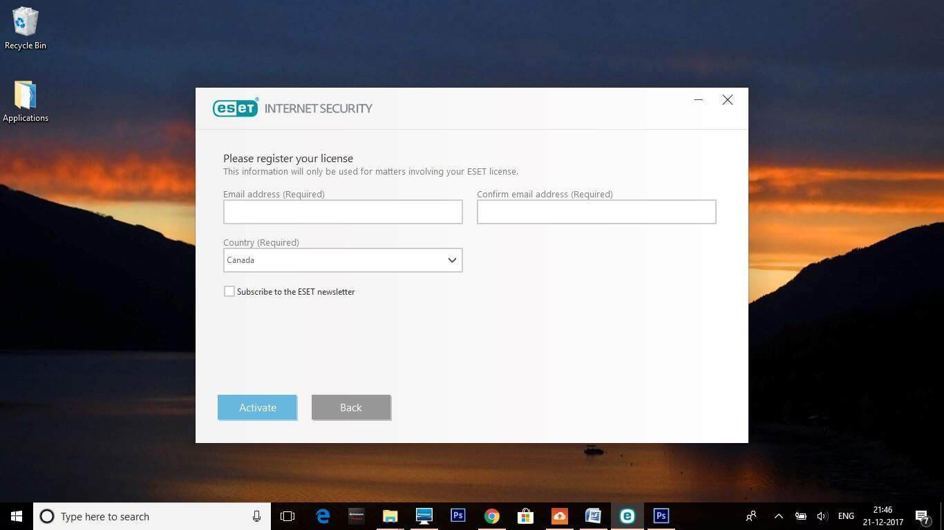 Eset Registration