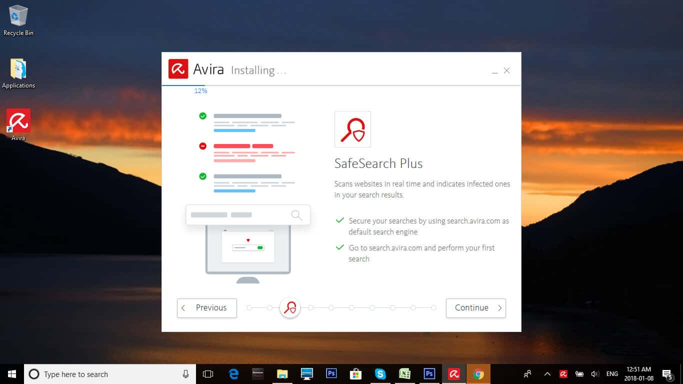 Avira features install