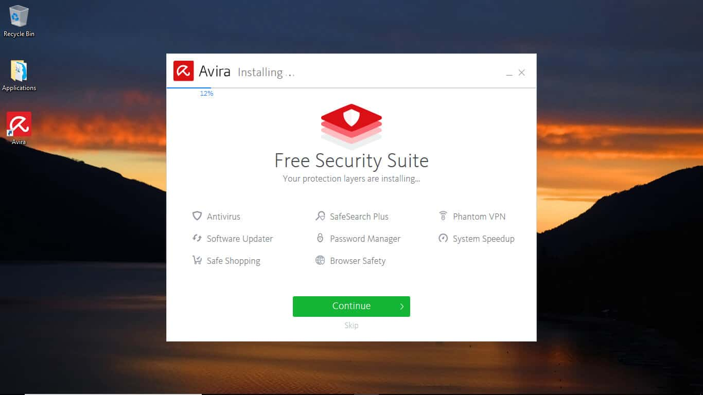 Avira features install All in one