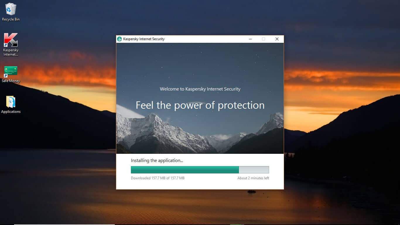 kaspersky installing application