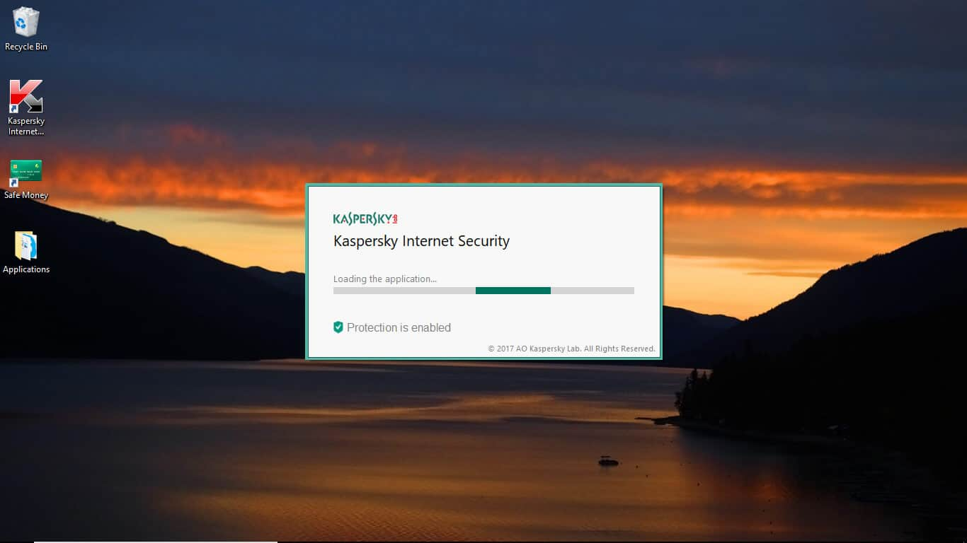 kaspersky loading application