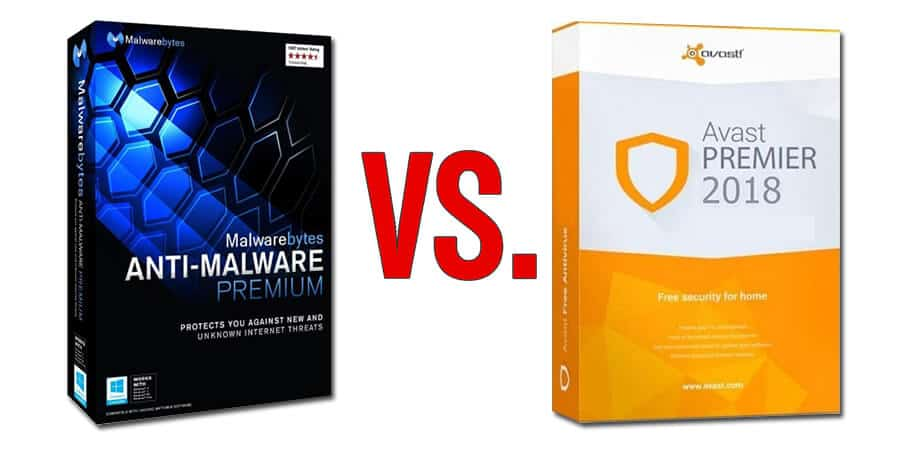 MalwareBytes vs Avast 2018 Comparison